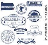 philadelphia city  pennsylvania.... | Shutterstock .eps vector #474651808