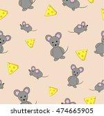 vector seamless pattern. mice...   Shutterstock .eps vector #474665905