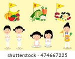 things to do in vegetarian... | Shutterstock .eps vector #474667225