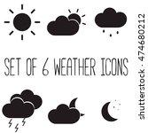 set of 6 weather meteorological ...