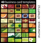 40 colorful business cards | Shutterstock .eps vector #47469712