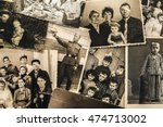 a collage of vintage photo of... | Shutterstock . vector #474713002
