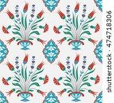 traditional turkish tile design.... | Shutterstock .eps vector #474718306