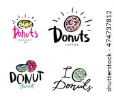 vintage bakery badges and... | Shutterstock .eps vector #474737812