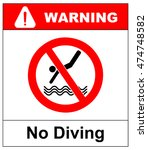 no diving sign. vector... | Shutterstock .eps vector #474748582