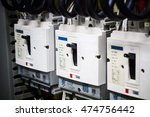 close up circuit breakers and... | Shutterstock . vector #474756442