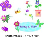 mix of spring is here vector | Shutterstock .eps vector #47475709