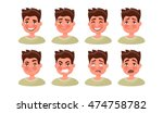 set a man with a variety of... | Shutterstock .eps vector #474758782