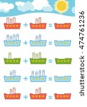 counting game for preschool...   Shutterstock .eps vector #474761236