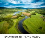 Small photo of Beautiful Nature Norway natural landscape aerial photography.