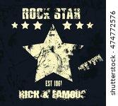 vector hipster retro badge ... | Shutterstock .eps vector #474772576