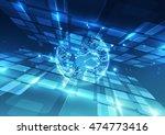 vector digital global... | Shutterstock .eps vector #474773416