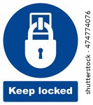 keep locked sign | Shutterstock .eps vector #474774076