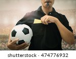 closeup of  soccer referee hand ... | Shutterstock . vector #474776932