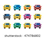 car emoticon  smiles icons set | Shutterstock .eps vector #474786802