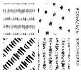 seamless hand drawn ink... | Shutterstock .eps vector #474794356