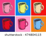 set coffee mug vector... | Shutterstock .eps vector #474804115