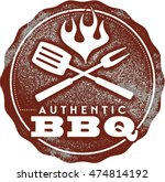 authentic bbq vintage barbecue... | Shutterstock .eps vector #474814192