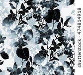 imprints abstract bouquet. hand ... | Shutterstock . vector #474814918