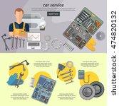 car service banner auto... | Shutterstock .eps vector #474820132