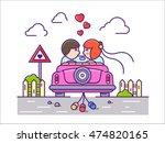 love concept flat. newlyweds... | Shutterstock .eps vector #474820165