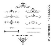 page dividers set. decorative... | Shutterstock .eps vector #474833302