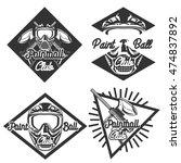 vintage paintball emblems | Shutterstock .eps vector #474837892