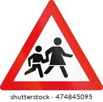 road sign used in the african... | Shutterstock . vector #474845095
