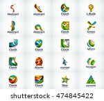 set of abstract vector company... | Shutterstock .eps vector #474845422