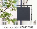 black empty outdoor signage... | Shutterstock . vector #474852682