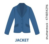 business jacket icon of vector...