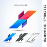vector set of letter x logo... | Shutterstock .eps vector #474861862
