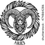 Detailed Aries In Aztec...
