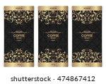 vector set of templates... | Shutterstock .eps vector #474867412