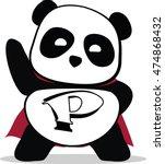 Little Cute Panda Superhero....