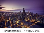 Chicago Skyline Aerial View At...