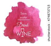 isolated vector watercolor... | Shutterstock .eps vector #474873715