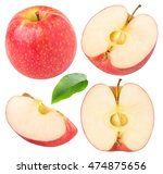 isolated apples. collection of... | Shutterstock . vector #474875656