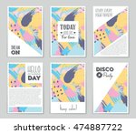 abstract vector layout... | Shutterstock .eps vector #474887722