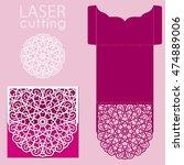 vector die laser cut envelope... | Shutterstock .eps vector #474889006