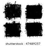 grunge banners. vector. | Shutterstock .eps vector #47489257