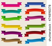 set of  colorful empty ribbons... | Shutterstock .eps vector #474898378