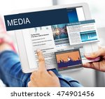 media journalism global daily... | Shutterstock . vector #474901456