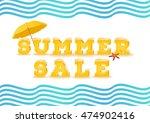 summer sale inscription in 3d... | Shutterstock .eps vector #474902416