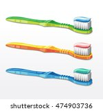 Toothbrush With Tooth Paste....