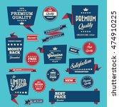 vintage labels set   origami... | Shutterstock .eps vector #474910225