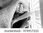 asian girl  near the window in... | Shutterstock . vector #474917212