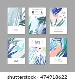 set of creative universal... | Shutterstock .eps vector #474918622