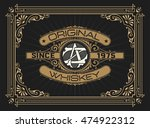 whiskey design for label and... | Shutterstock .eps vector #474922312