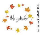 "the inscription ""hello... | Shutterstock .eps vector #474924016"